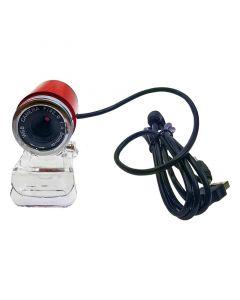 Bullet Web Camera USB με μικρόφωνο 3.5mm Κόκκινη 0420.010