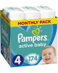 PAMPERS ACTIVE BABY Νο. 4 1X174 MSB - 28434 - 8001090910820