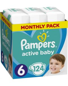 PAMPERS ACTIVE BABY Νο.6 1X124 MSB - 28437 - 8001090911063