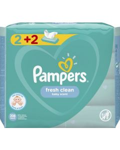 PAMPERS WIPES FRESH 4X52 - 30025 - 8001841078090