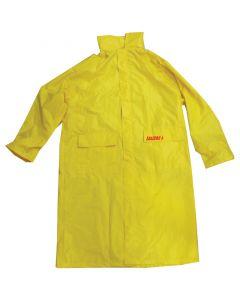 LALIZAS Αδιάβροχο Σακάκι μακρύ με κουκούλα, κίτρινο, L