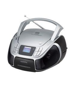 Φορητό ράδιο CD MP3 και USB με φωτιζόμενη οθόνη Μαύρο με Ασημί CD-96 - L07.308