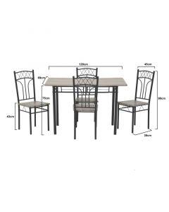 Σετ Τραπεζαρία Με 4 Καρέκλες - 6-50-673-0005