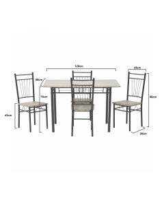 Σετ Τραπεζαρία Με 4 Καρέκλες - 6-50-673-0006