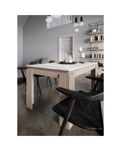 Τραπεζαρία VIKI, Χρώμα Sonoma-Λευκό με εφέ Μάρμαρο, 137x90x75. IR-VIKISONOMAWHITE