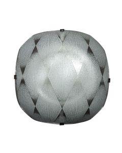 Φωτιστικό Οροφής Λευκό Μονόφωτο Γυάλινο E27 29*29*10cm LO-1108-01
