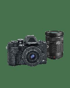 Olympus E-M10 IV Camera Double Kit blk/blk/bk, 14-42mm F3.5-5.6 EZ black & 40-150mm F4.0-5.6 R black 9.01.03.03.142 V207134BE000