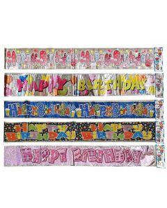 HAPPY BIRTHDAY ΜΕΤΑΛΛΙΖΕ 180x12cm Homie 3726 17-6