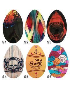 ΣΑΝΙΔΑ ΞΥΛΙΝΗ SURF SKIMBOARD 76x45cm SUMMERtiempo 622163 42-2143