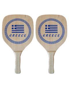 ΡΑΚΕΤΑ ΞΥΛΙΝΗ GREECE ΣΕΤ=2ΤΕΜ 40x22x1,2cm SUMMERtiempo 62348 42-328