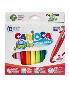 ΜΑΡΚΑΔΟΡΟΙ CARIOCA JUMBO 6mm ΣΕΤ=12 ΧΡΩΜΑΤΑ  Carioca 40569 60-52