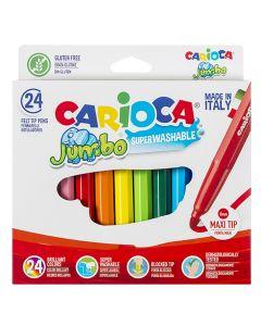 ΜΑΡΚΑΔΟΡΟΙ CARIOCA JUMBO 6mm ΣΕΤ=24 ΧΡΩΜΑΤΑ  Carioca 40570 60-557