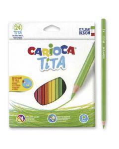 ΞΥΛΟΜΠΟΓΙΑ ΟΙΚΟΛΟΓΙΚΗ CARIOCA ΤΙΤΑ  ΣΕΤ=24 ΧΡΩΜ.  Carioca 60-744