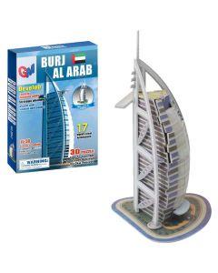ΜΙΝΙ ΠΑΖΛ 3D BURJ AL ARAB 17 ΤΕΜ 16x22cm #N/A 69-1636