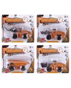 ΟΧΗΜΑΤΑ ΔΟΜΙΚΑ PULL BACK ΣΕ ΚΑΡΤΕΛΑ 17x15cm ToyMarkt 902139 70-2119
