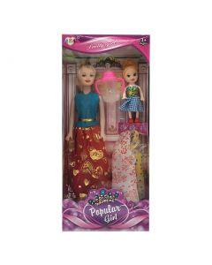 ΚΟΥΚΛΑ POPULAR GIRL & ΚΟΥΚΛΑΚΙ & ΦΟΡΕΜΑΤΑ 14x32x5cm ToyMarkt 922071 72-2051