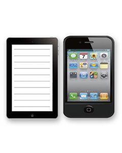 ΜΠΛΟΚ SMARTPHONE 10.5x7.5cm Justnote 104208 84-188