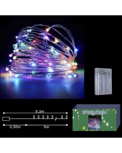 50 microLED ΜΠΑΤΑΡΙΑΣ COPPER ΧΡΩΜΑΤΙΣΤΑ ΣΤΑΘΕΡΑ  Xmasfest 1131427 93-1407