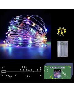 50 microLED ΜΠΑΤΑΡΙΑΣ COPPER ΧΡΩΜΑΤΙΣΤΑ CONTROL  Xmasfest 1132404 93-2384