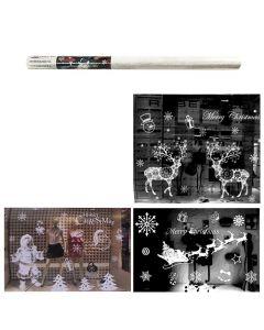 ΑΥΤΟΚΟΛΛΗΤΟ ΡΟΛΟ ΒΙΤΡΙΝΑΣ ΛΕΥΚΟ 70x50cm(ή 2ΤΕΜ των 35x50cm) Xmasfest 1132468 93-2448