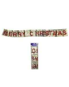 MERRY CHRISTMAS ΜΕΤΑΛΛΙΖΕ ΔΙΑΚΟΣΜΗΤΙΚΟ 110x12cm Xmasfest 1132627 93-2607