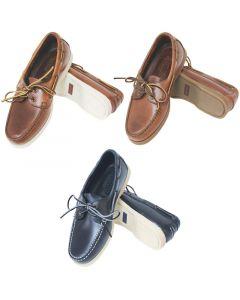 Deck shoes ''Skipper'' καφέ δέρμα/άσπρη σόλα No.36