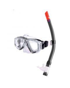 Σετ μάσκας & αναπνευστήρα PVC παιδικό, μαύρο
