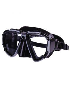 Μάσκα σιλικόνης με ξεχωριστούς φακούς, μαύρη