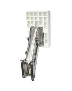 Βάση ανοξείδωτη εφεδρικής μηχανής, ρυθμιζόμενη με πλαστικό καθρέφτη για μηχανές έως 20kg/8HP