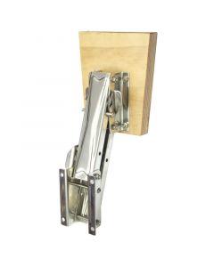 Βάση ανοξείδωτη εφεδρικής μηχανής, ρυθμιζόμενη, με ξύλινο καθρέφτη, για μηχανές έως 20kg/8HP