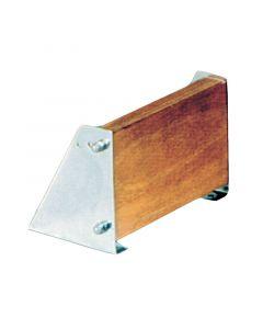 Βάση ανοξείδωτη εφεδρικής μηχανής, ρυθμιζόμενη 0-17ο, με ξύλινο καθρέφτη για μηχανές έως 10 ΗΡ.