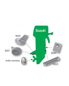 Ανόδιο σε σχήμα πλάκας, για μηχανές Suzuki, 0,08kg