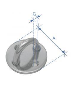 Μάπα με μάτι, στρογγυλή, ανοξείδωτη,διάμ. 5mm