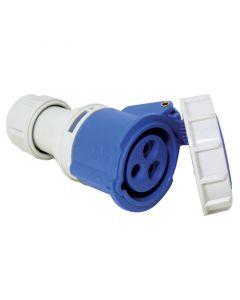 Φις θηλυκό, με καπάκι ασφαλείας, 16A, 220-240V, μπλε