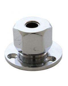Έξοδος καλωδίων εξάγωνη, στεγανή, 12mm, βάση 38mm