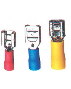 Ακροδέκτης θηληκός βισματωτός, κόκκινος, για καλώδιο 0,25-1,5mm2 (65 τεμ.)