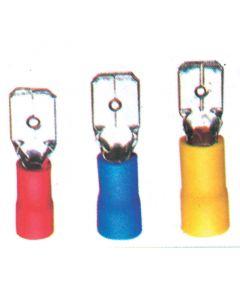Ακροδέκτης αρσενικός, βισματωτός, κόκκινος, για καλώδιο 0,25-1,5mm2 (55 τεμ.)