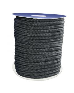Σχοινί Πρόσδεσης 16-Kλωνο Διπλής Πλέξης, 8mm, Polyester, μαύρο