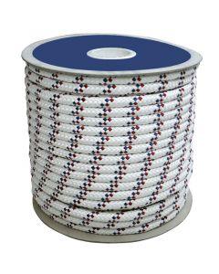 CABO Σχοινί πολλ.χρήσεων,4mm, άσπρο/μπλε σιρίτι,16κλωνο,Διπλής Πλέξης,Polyester