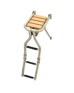 Πλατφόρμα με σκάλα, 210x390mm, Inox 316