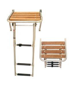 Πλατφόρμα με πτυσσόμενη σκάλα, 450x390mm, Inox 316