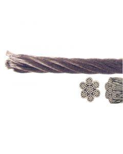 Συρματόσχοινο για μαντάρια, Inox 316, 7x19, 5mm