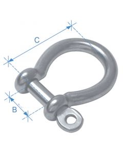 Κλειδί άγκυρας, τύπου Ω, γαλβανισμένο, διαμ. 5mm