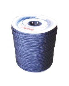 Σχοινί Πρόσδεσης 16-Kλωνο Διπλής Πλέξης, 12mm, Polyester, μπλε