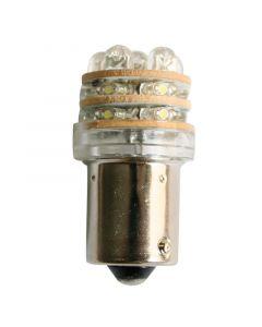 Λαμπάκι LED, 12V, T18 BA15D, ψυχρό λευκό - 18 LEDs, 15x39mm