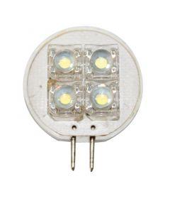 Λαμπάκι LED, 12V, T25, G4, ψυχρό λευκό - 4 PIRANHA LEDs, 37x25x8,2mm