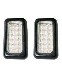Πλαφονιέρα / Φανάρι Τρέιλερ, 12 LEDs, 12V&24V, μαύρο (σετ 2 τεμ)