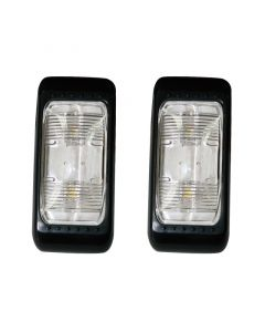Πλαφονιέρα / Φανάρι Τρέιλερ, 4 LEDs, 12V&28V, μαύρο (σετ 2 τεμ)