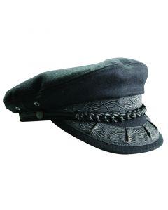 Yδραίικο Καπέλο, χειροποίητο, μαύρο, medium (μέγεθος 57)