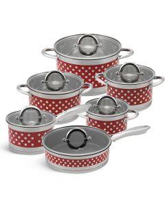 Edenberg Σετ αντικολλητικά μαγειρικά σκεύη από ανοξείδωτο ατσάλι12 τμχ EB-4055 6875
